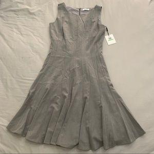 BNWT Calvin Klein women's pleated dress.